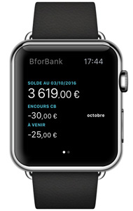 ecran apple watch bforbank